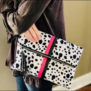 Handbags - Dalmatian Fold over Clutch